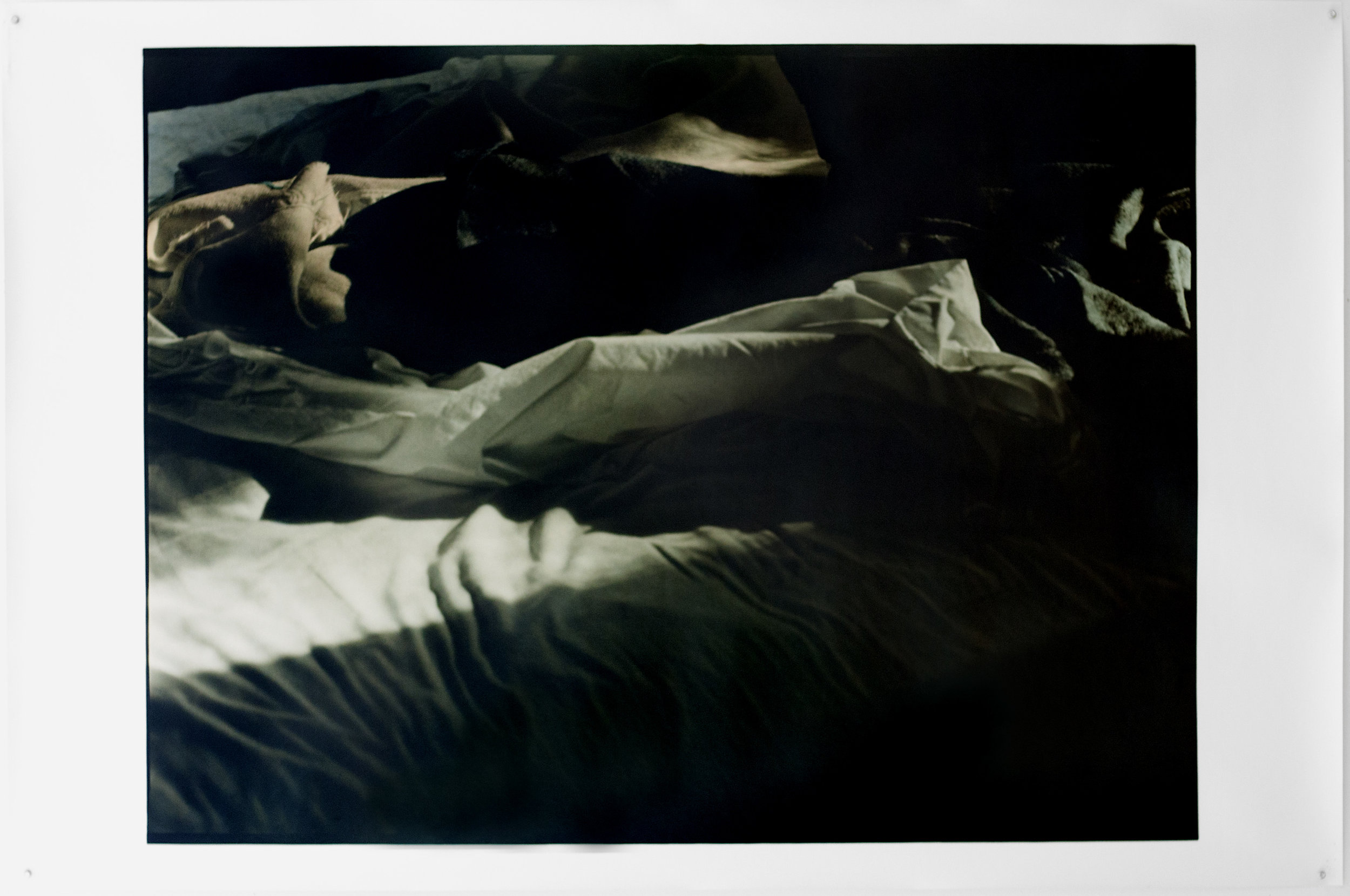 "8-22-15, A.M.  42"" X 54"" Oil on silver gelatin print 2016"