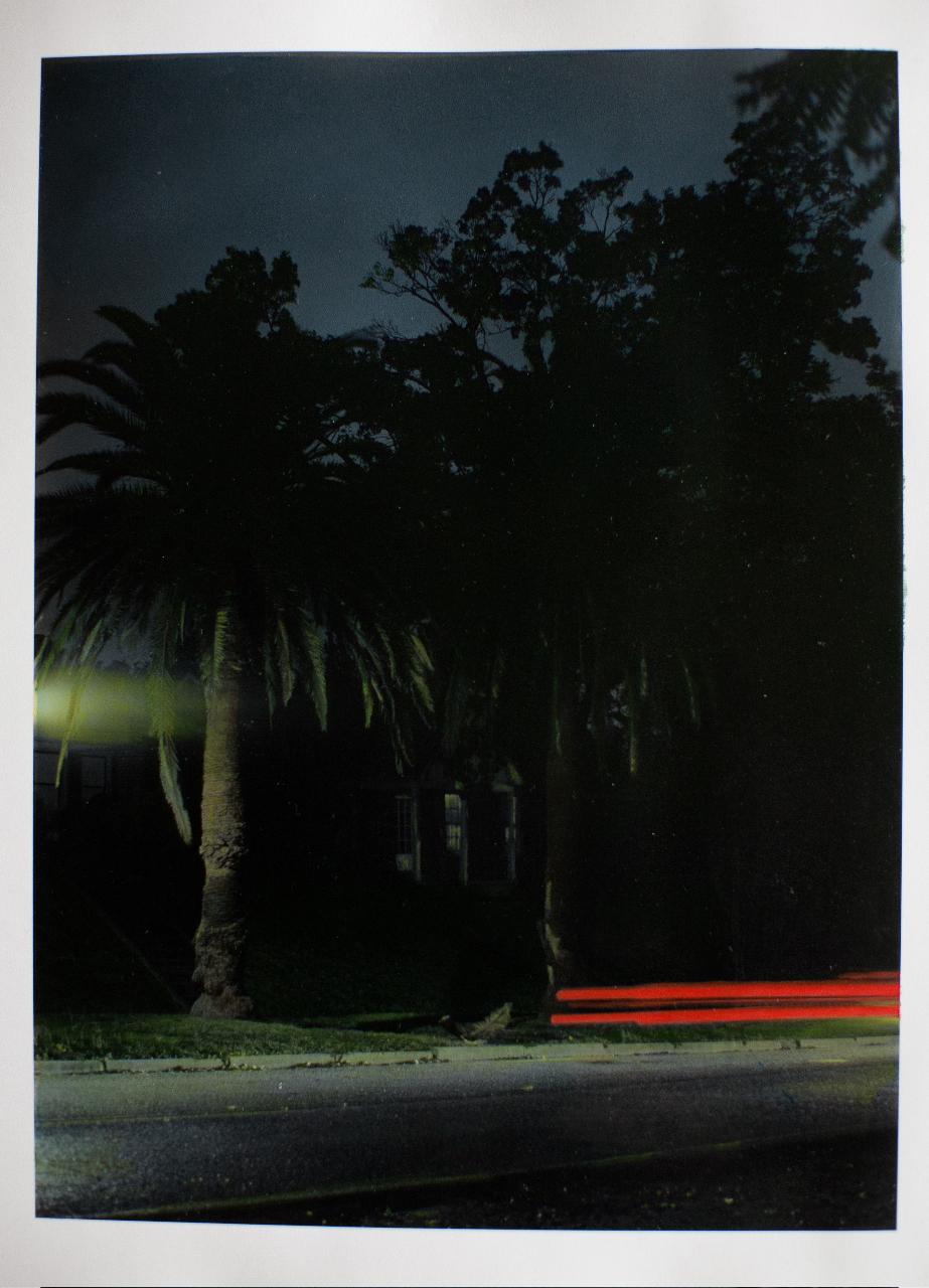"11-20-11, P.M.  55"" X 42"" Oil on silver gelatin print 2012"