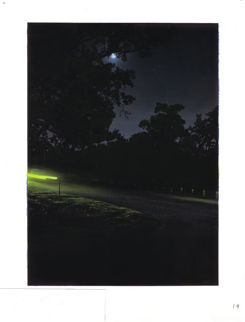 "10-11-11, P.M., #1 1/2  36"" X 28"" Oil on silver gelatin print 2012"