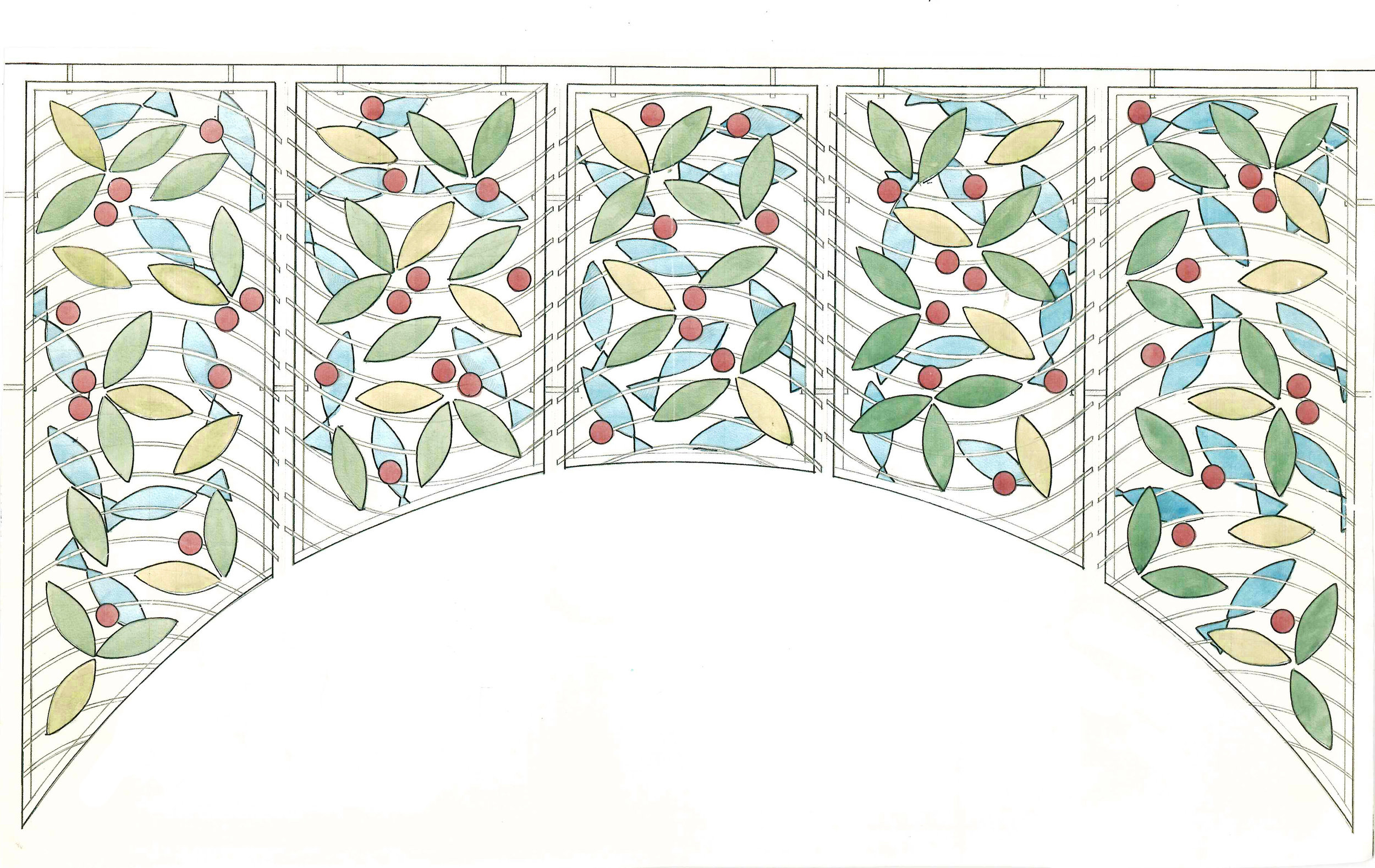 Sketch proposal for the archway.