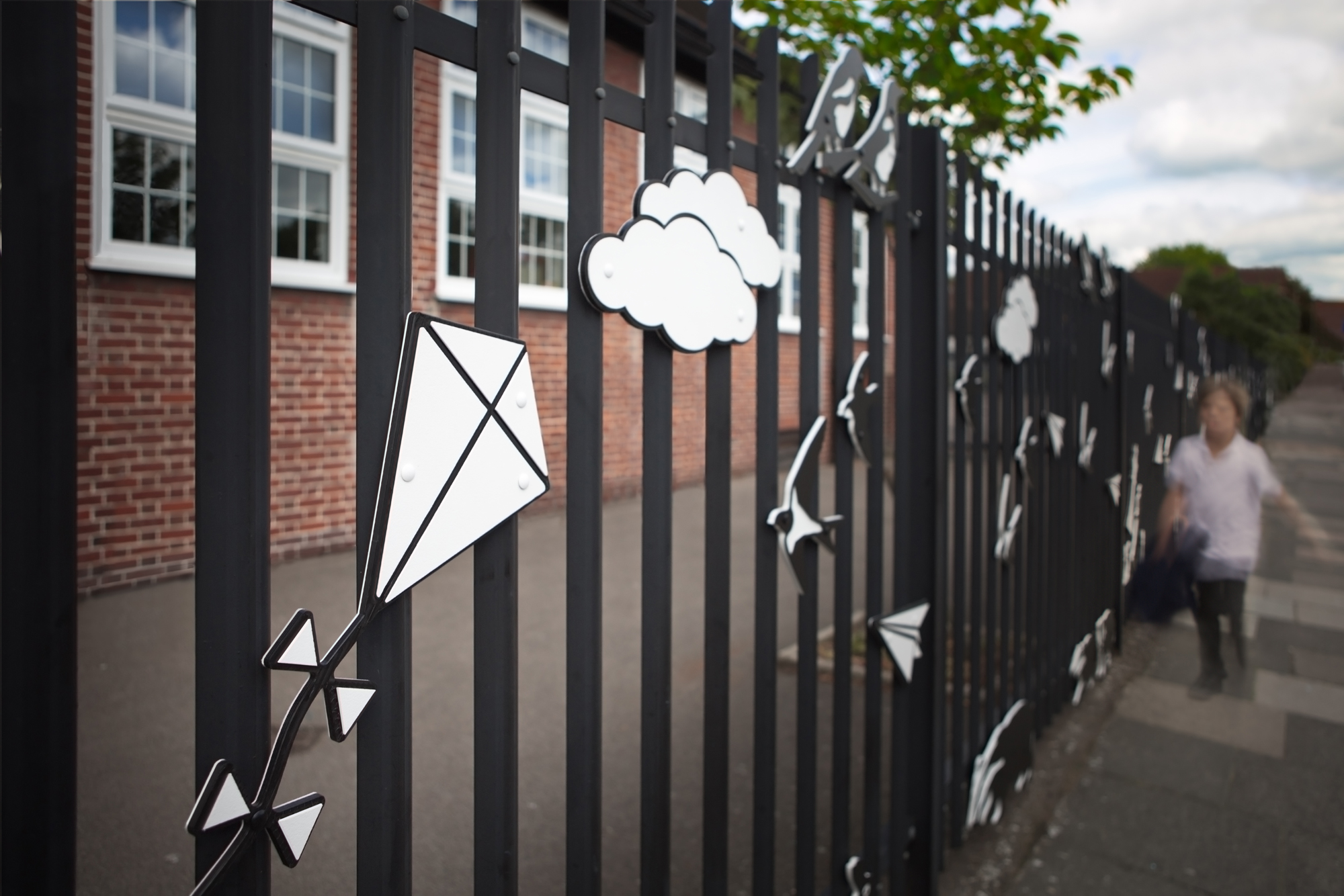 Detail of Cromer Road Primary School railings.