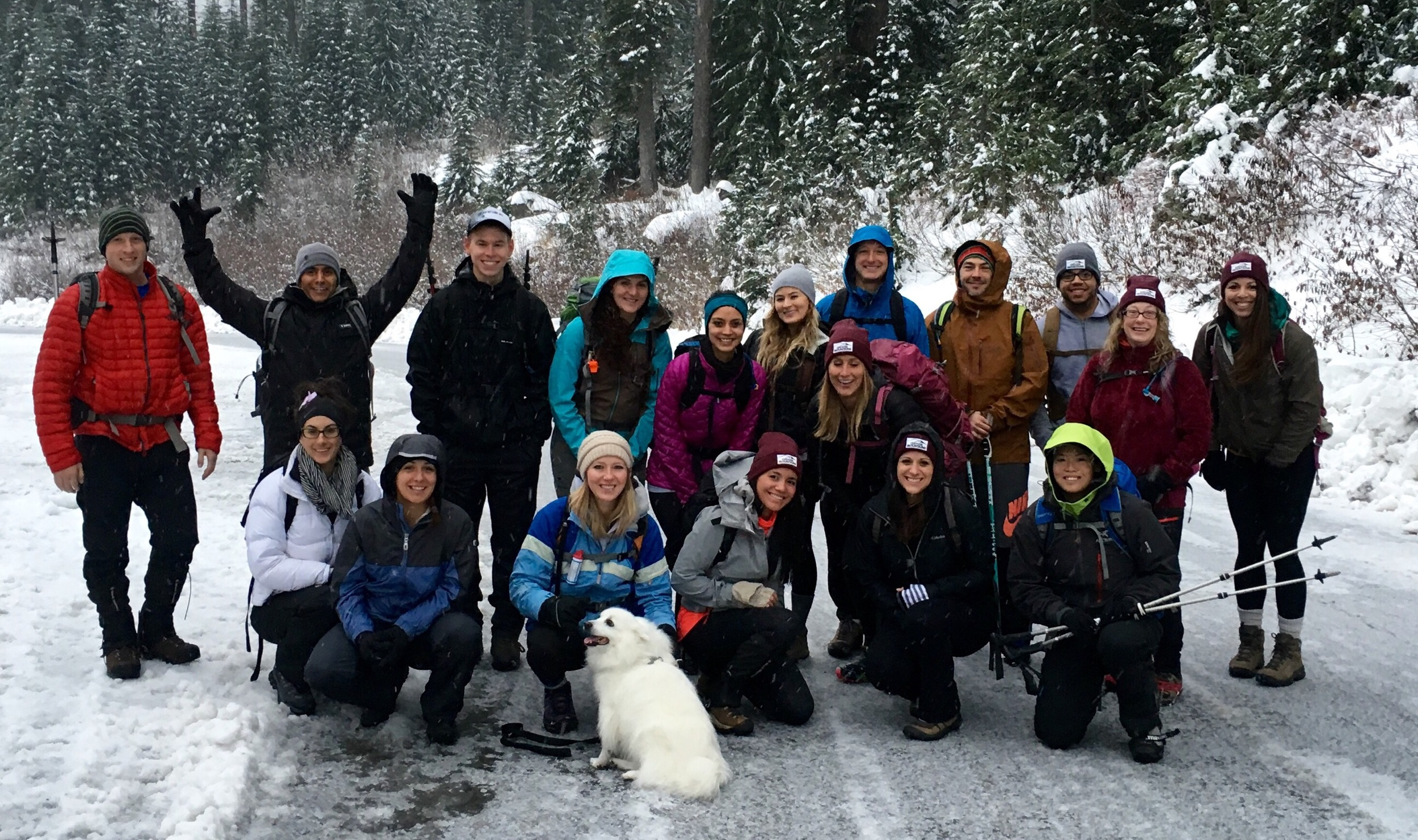Our very first meetup to snow lake