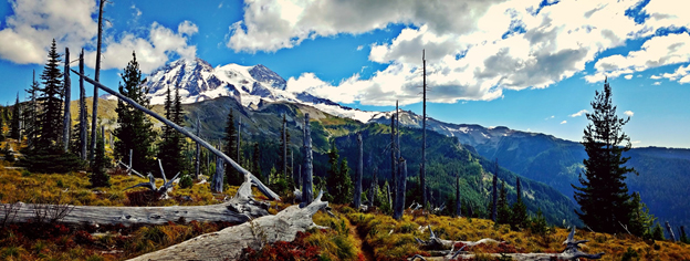Tahoma comes into view from the Wonderland