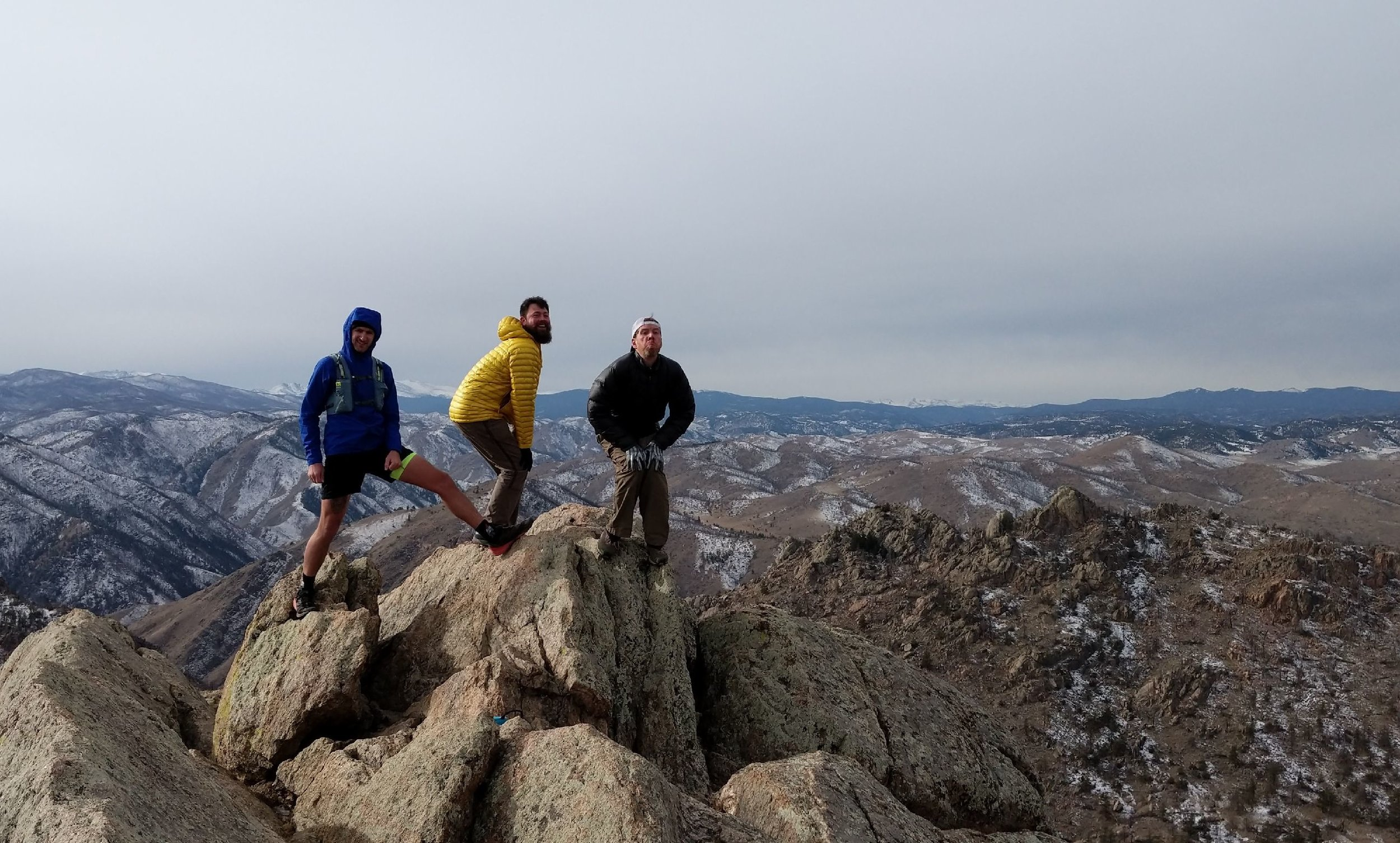 The boys won the summit photo of the day...don't even try to argue.