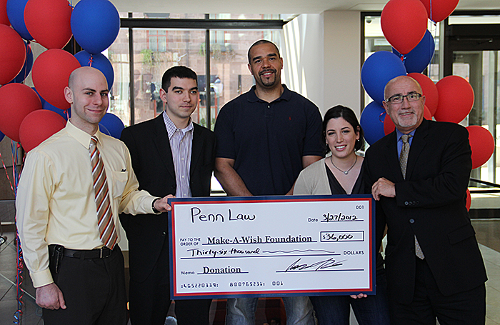 Law students donating $36,000 to the Make-a-Wish Foundation