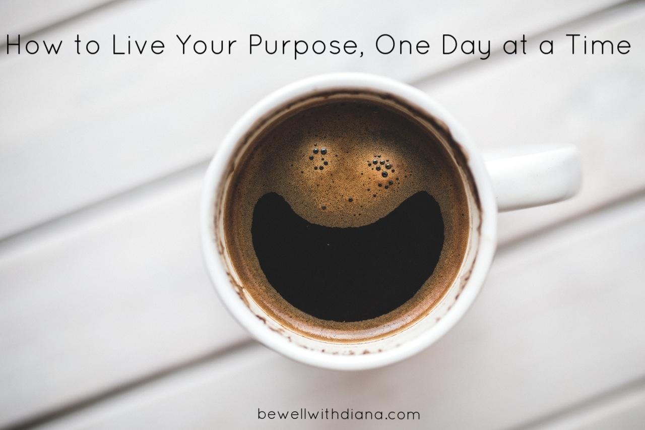 happy coffee - live your purpose