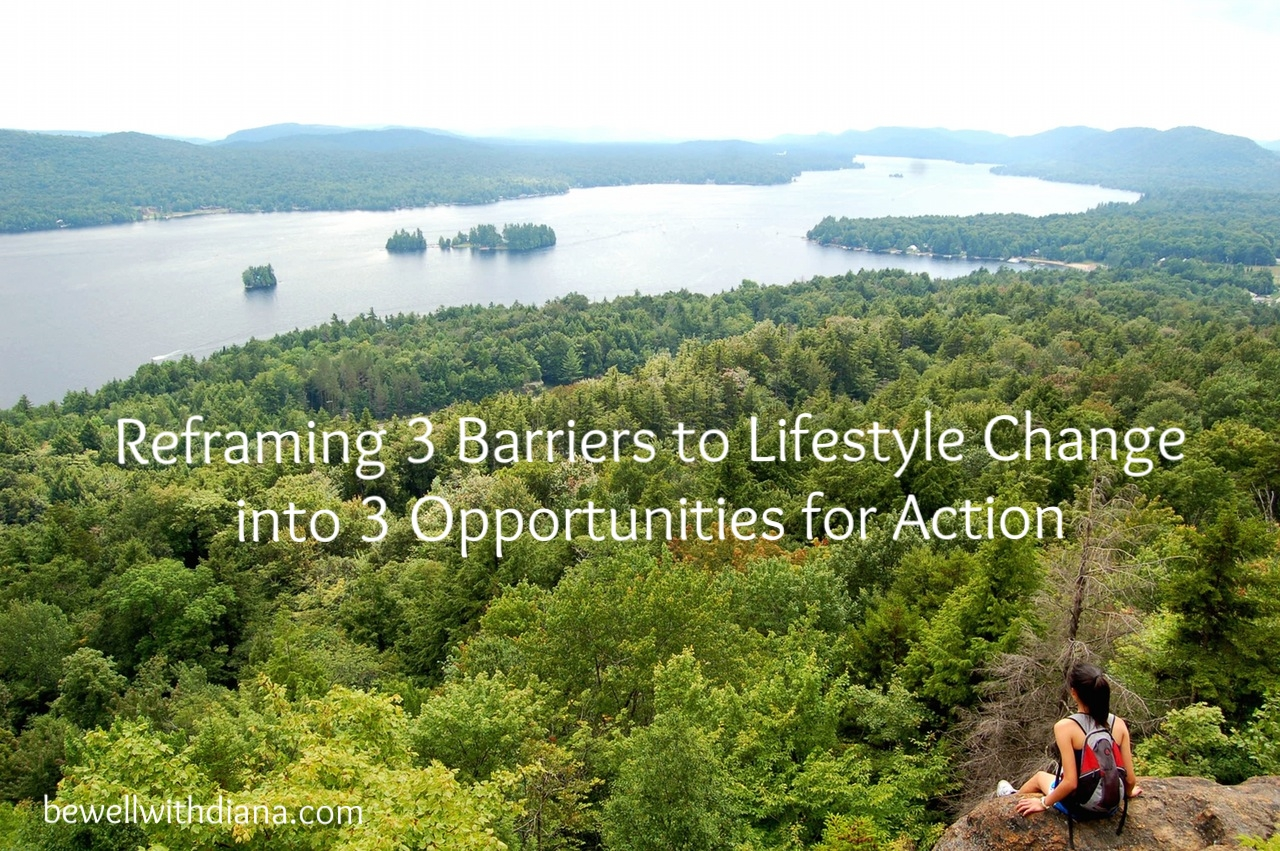 woman on cliff - barriers to lifestyle change