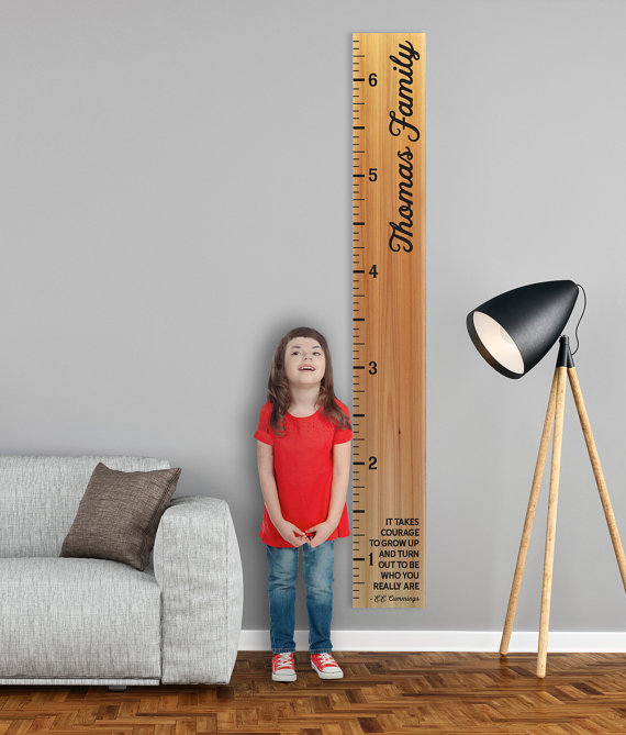 We made our first growth chart for Laura and it's become one of our biggest sellers in the shop!