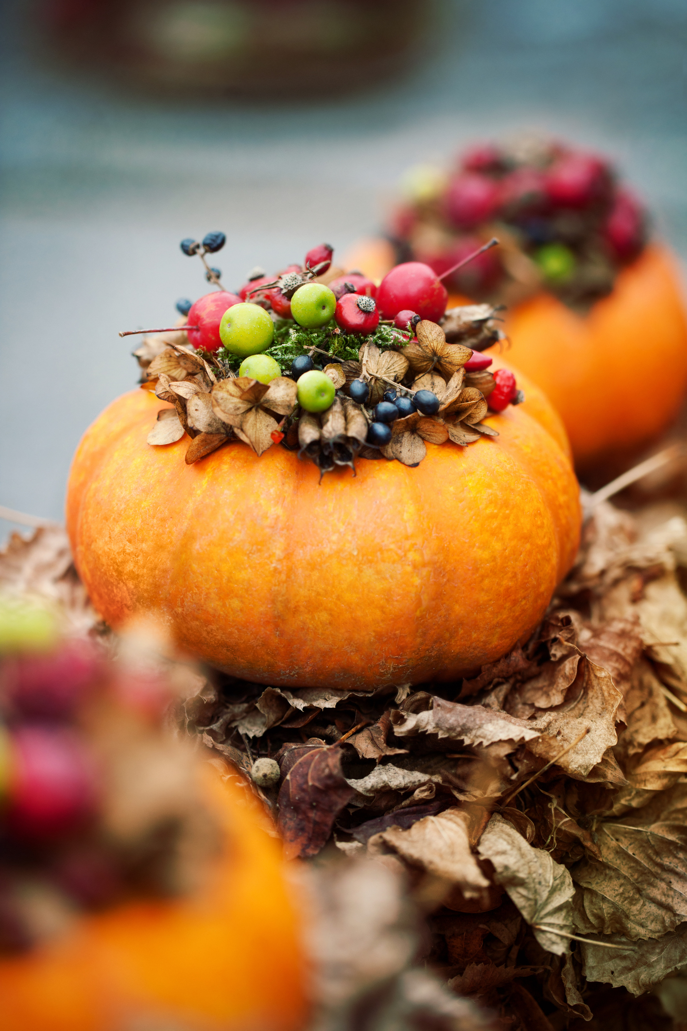 A charming miniature display for fall. Group a few on your dining room table or scatter them throughout your main floor.