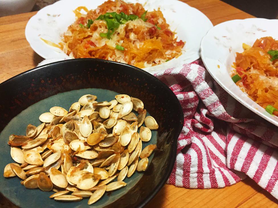 Spaghetti-Squash-Recipe-tomato-green-onion-cheese-seeds-seasoning-salt-chile-pepper-spice.JPG
