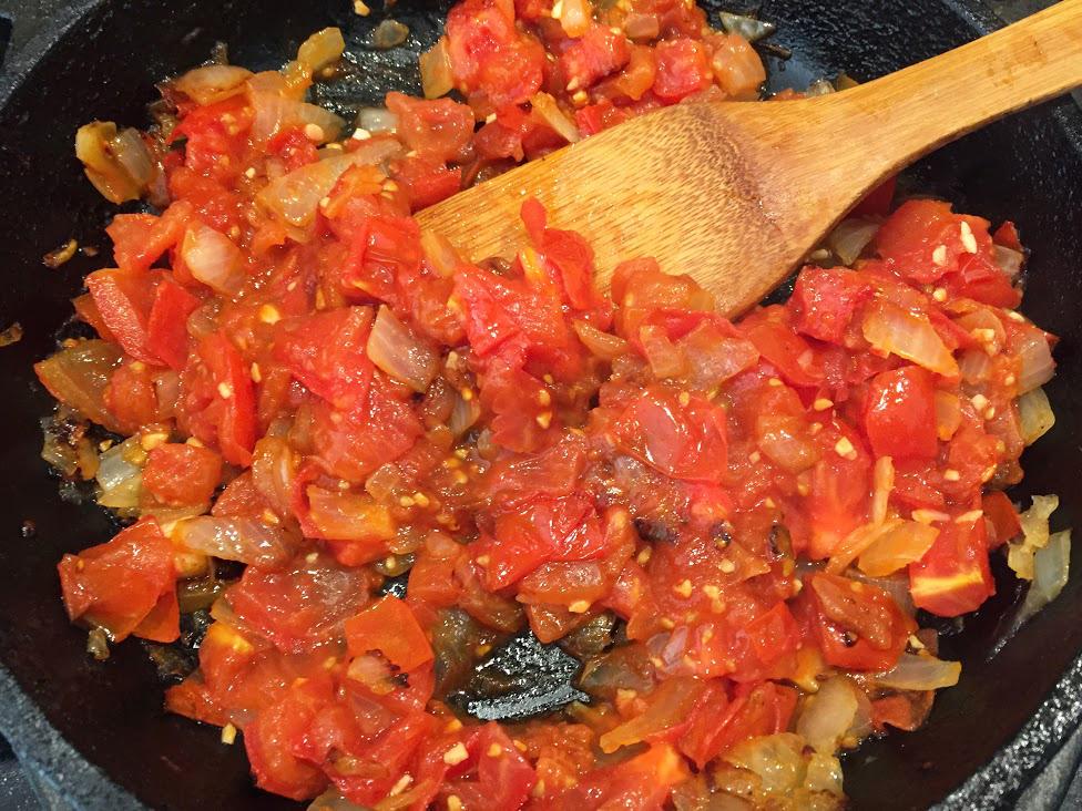 Spaghetti-Squash-Recipe-tomato-onion-garlic-stir-pot-cooking-dinner.JPG