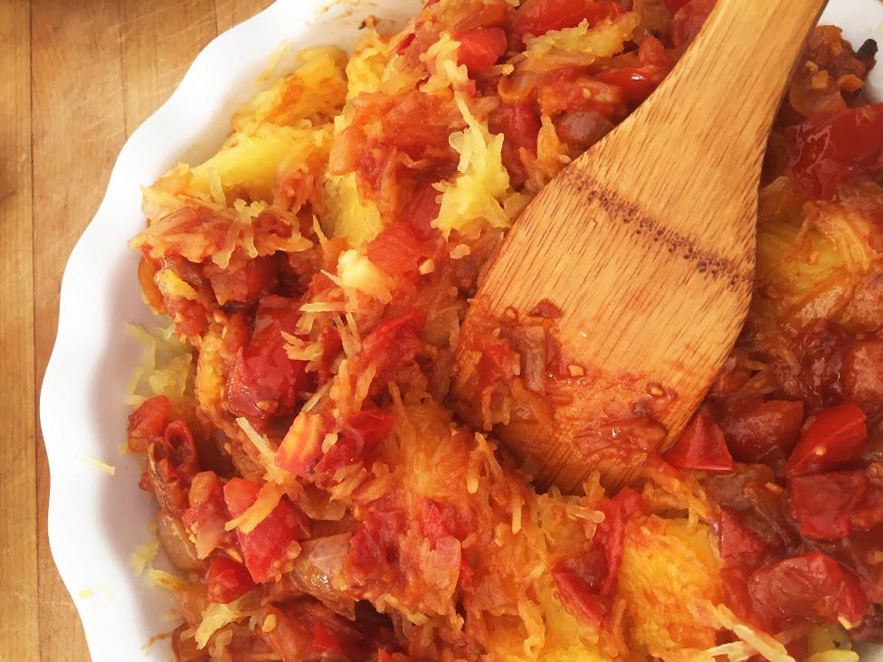 Spaghetti-Squash-Recipe-tomato-onion-garlic-stir-pot-cooking-dinner3.JPG