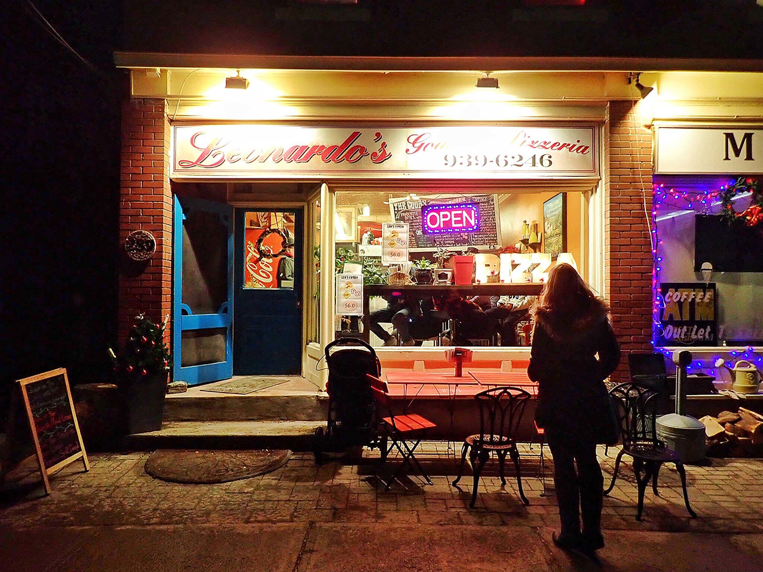 Leonardo's Gourmet Pizzeria On Main.  Click here  to view their menu.