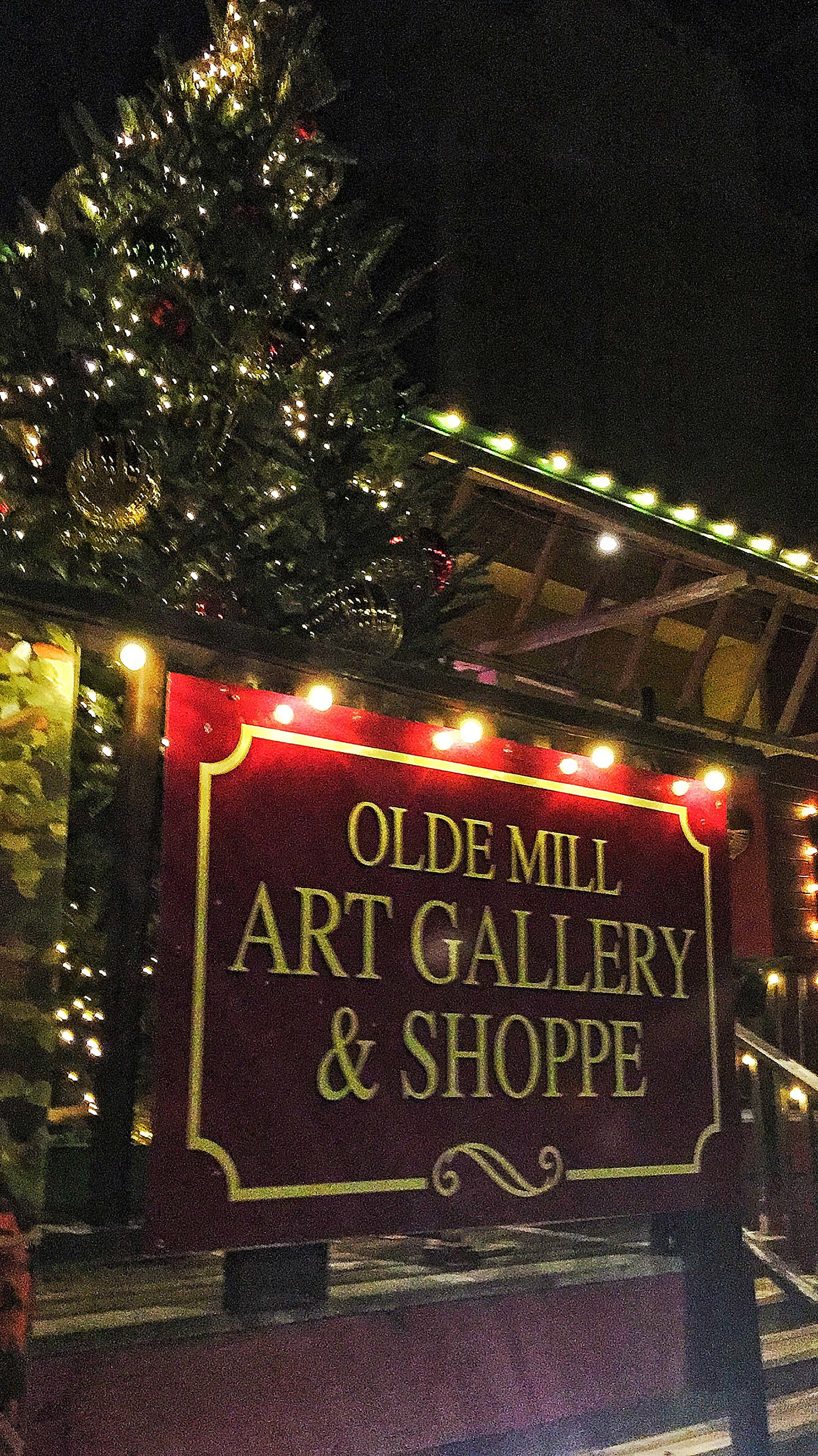 Christmas at the Olde Mill in Schomberg Ontario.