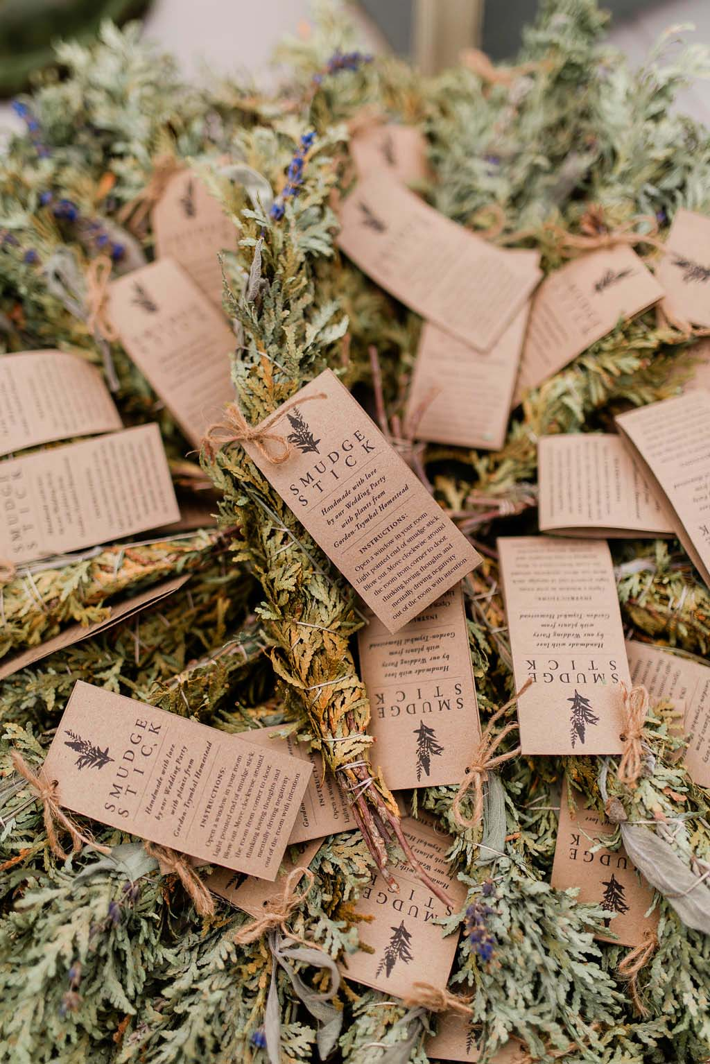 Make Your Own Smudge Stick Wedding Favours