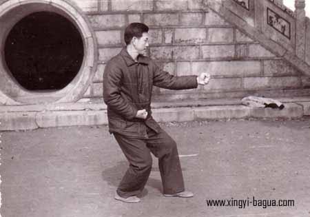 刘敬儒师父示範崩拳  Master Liu Jing Ru performing Beng Quan (Smashing Fist).