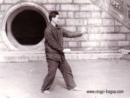 刘敬儒师父示範劈拳  Master Liu Jing Ru performing Pi Quan (Splitting Fist).