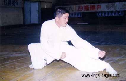 """中國武術六段 胡耀武表演行步反背搥  Chinese Martial Arts Official 6th """"Den"""", Hu Yao Wu demonstrating Martial Arts."""