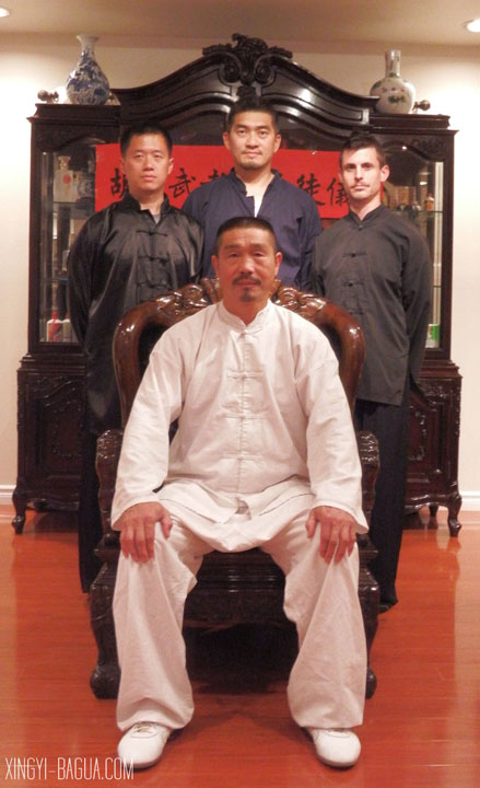 Master Hu Yao-Wu's disciples from Tea Ceremony performed April 19, 2014, from left to right: Fuyuan Chang, Thomas Tsai and J. Matthew Brand.
