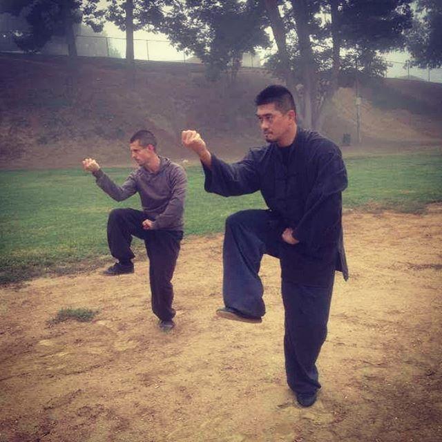 Zuan quan (drill) standing practice. #xingyiquan #chinesemartialarts #kungfu