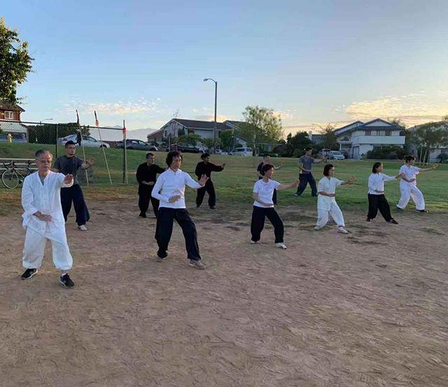 Sunday morning class #xingyiquan #chinesemartialarts #kungfu #grouppractice