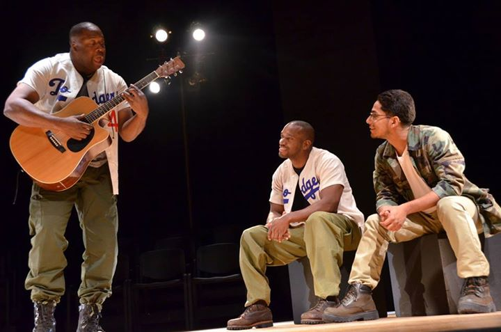 """A Soldier's Play"" David J. Curtis as CJ Memphis, with Ezra Stevens and Geraldo Portillo"