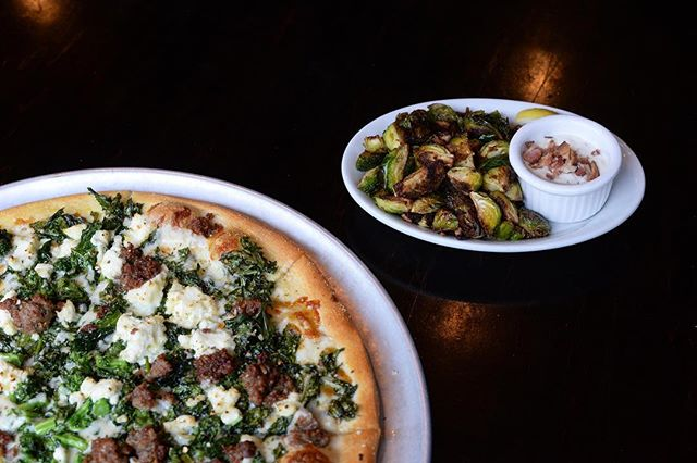 Our Southern Italian Brassica thin crust paired with a Brussels Sprouts appetizer is here for a few more days —an instant favorite! 🙌