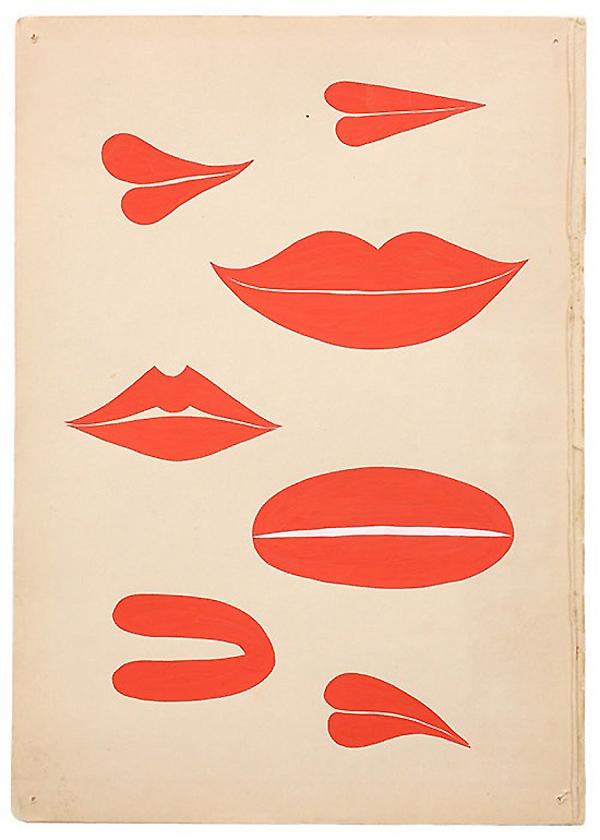 Red lips by  Margaret Kilgallen
