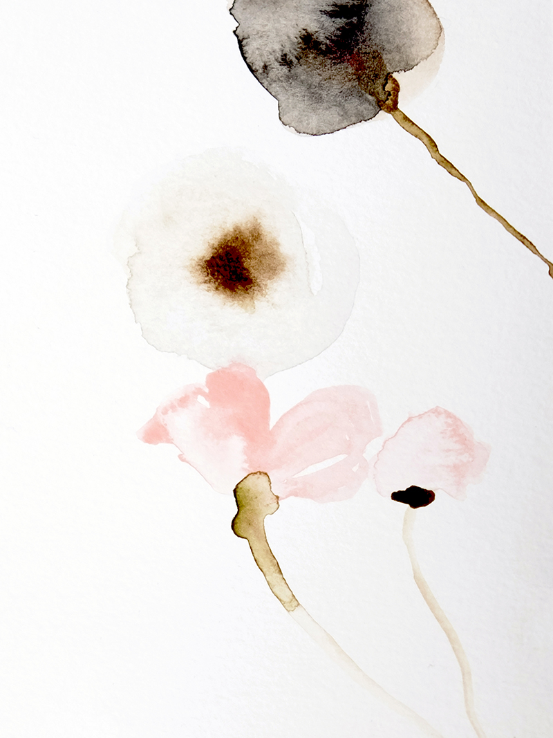 "© Leigh Viner 2018 - ""June"" Watercolor on Paper"
