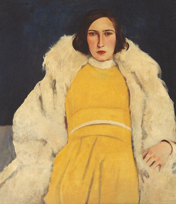 Via  Valscrapbook   Willy Jaeckel (Ger. 1888-1944),  Woman in yellow (1928) Dame in Gelb