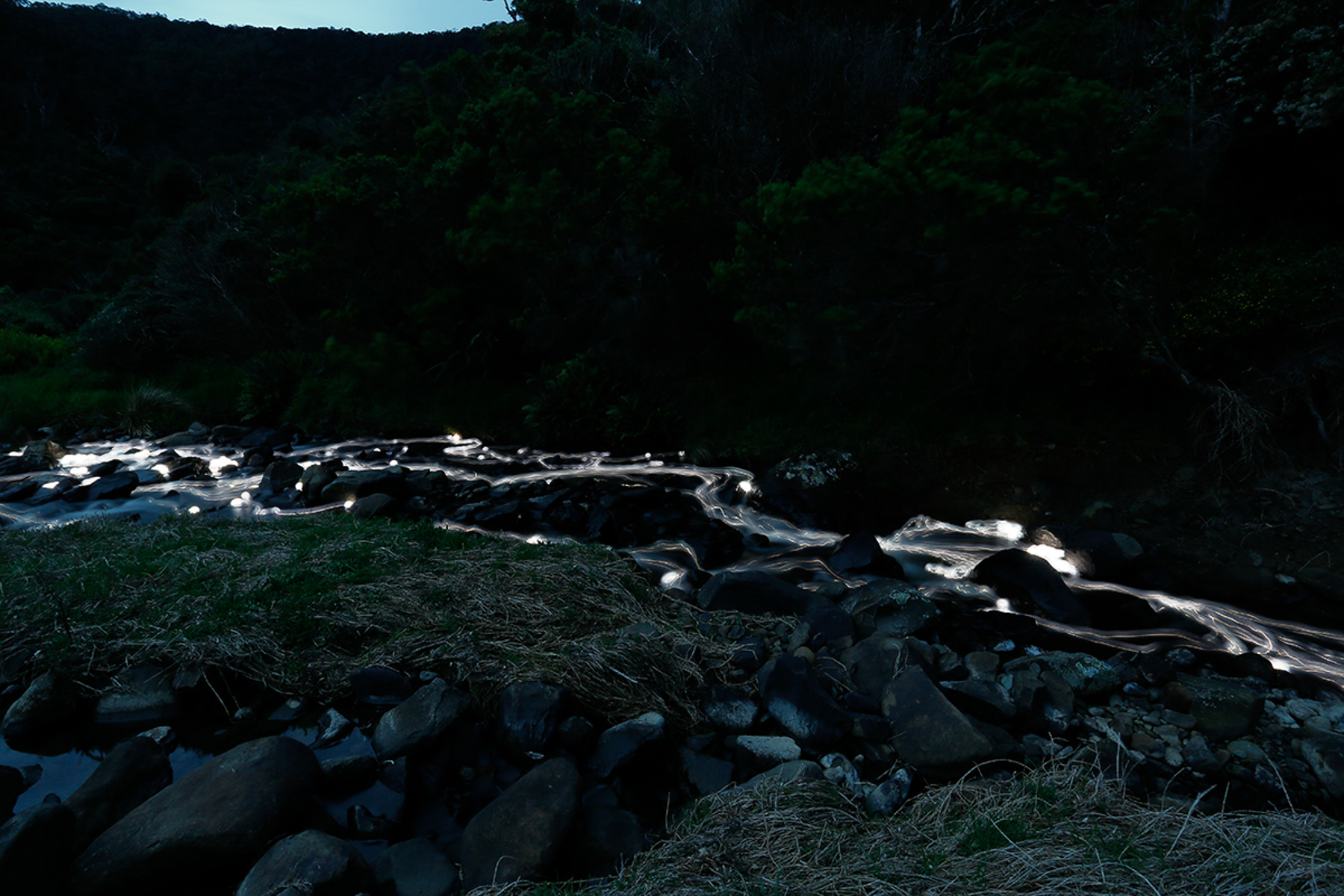 Carisbrook Falls  part of  Flow Series  LED lights, water
