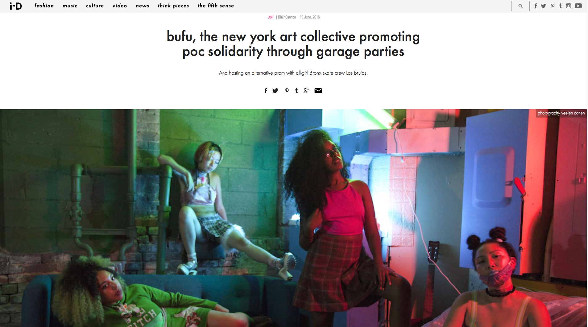 """""""BUFU, the New York Art Collective Promoting POC Solidarity through garage parties"""" by Blair Cannon on i-D Magazine"""