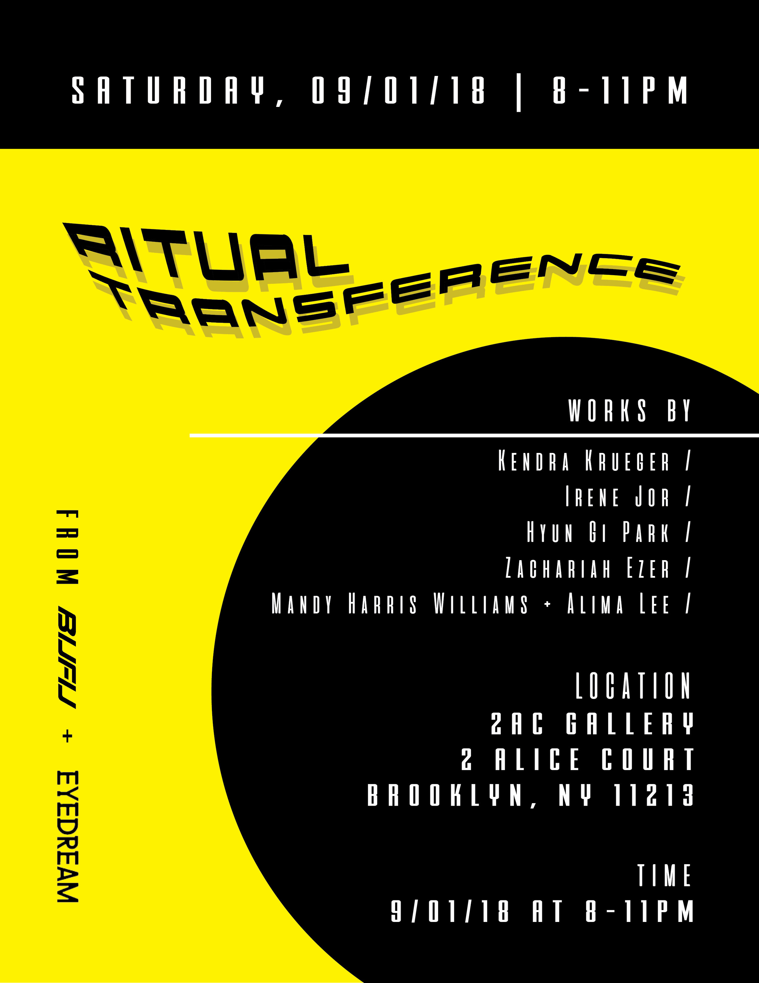 Ritual Transference - RITUAL TRANSFERENCE☁️☁️☁️☁️☁️☁️☁️☁️☁️☁️☁️☁️☁️☁️☁️☁️☁️☁️☁️☁️☁️☁️☁️☁️@@@ 2AC Gallery2 Alice CourtBrooklyn, NY☁️☁️☁️☁️☁️☁️☁️☁️☁️☁️☁️☁️☁️☁️☁️☁️☁️☁️☁️☁️☁️☁️☁️☁️INSTALLATION // WORKSHOP // OPEN SPACEWith Eyedream Residents Cohort 4Kendra Krueger, Mandy Papoose & Alima Lee, Zach Ezer, Hyun Gi Park, Irene Jor8-11PM☁️☁️☁️☁️☁️☁️☁️☁️☁️☁️☁️☁️☁️☁️☁️☁️☁️☁️☁️☁️☁️☁️☁️☁️