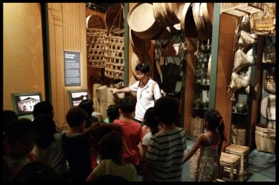 Mrs Jo walked them through a replica of a marketplace selling different types of baskets.