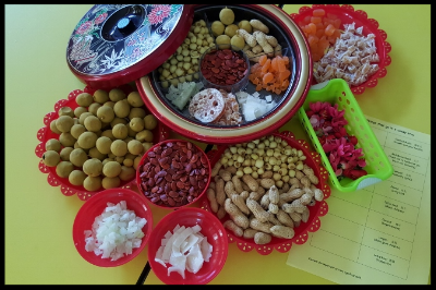 These are the goodies, each with their own symbolism, that the children got to sample and take home.