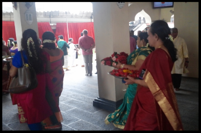 We were fortunate to have witnessed a Hindu wedding during our visit to the temple. A celebration of such a special occasion was the reason why the inner sanctum of Sri Mariamman was unveiled during that time.