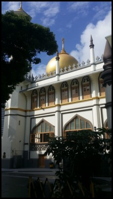 The side view of the Sultan Mosque.