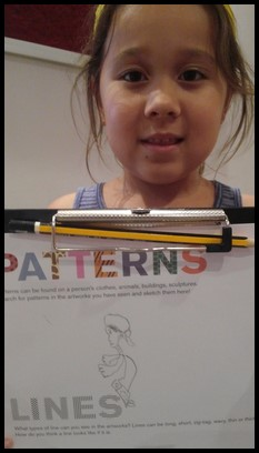 Francine chose to draw her own version of the painting.