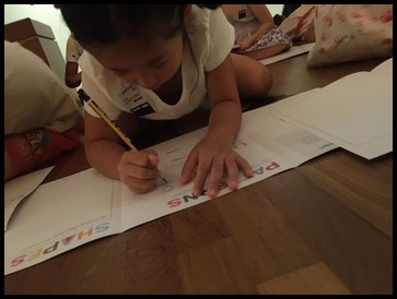 The children were also asked to create their own patterns.