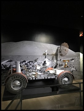 Apollo Lunar Roving Vehicle was a vehicle used on the moon to enable the astronauts to move quickly on the moon to explore the area.