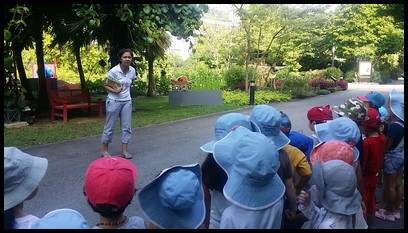 The children were then taken to the Edible Garden where they saw a variety of plants that can be eaten and can also be used for medicinal purposes.