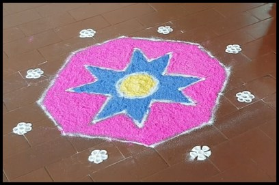 Rangolis are made to bring good luck