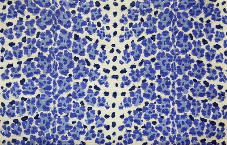 WF-445-02 Blue on Linen/ Cotton