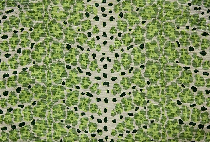 WF-445-04 Green on Linen/ Cotton