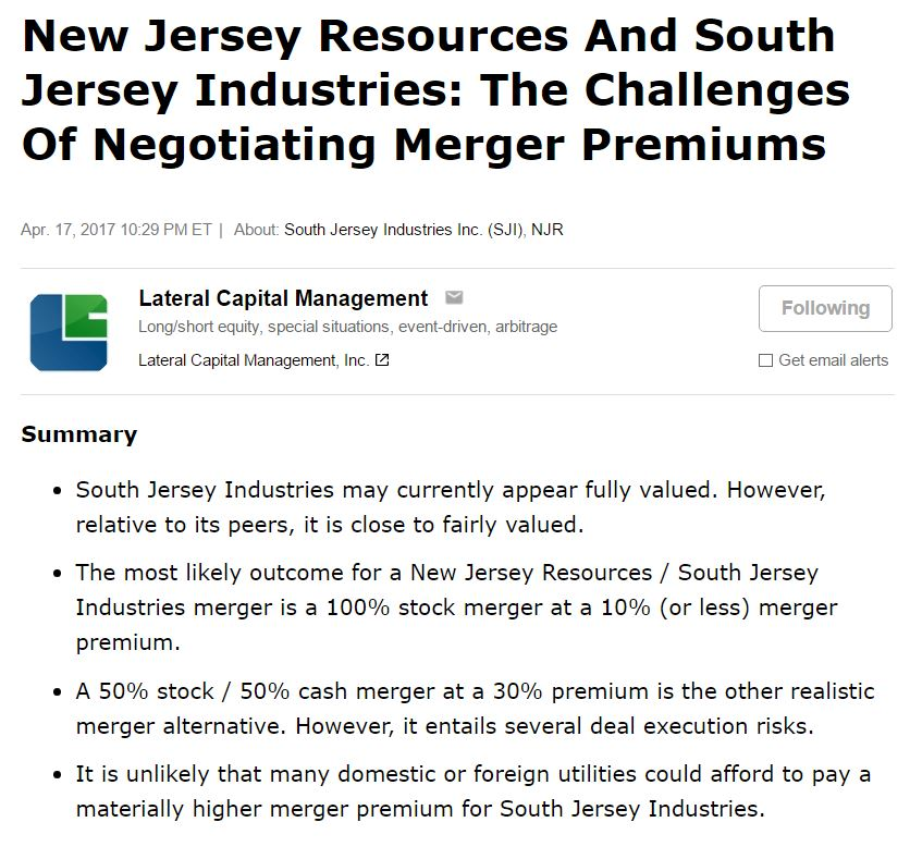 New Jersey Resources & South Jersey Industries