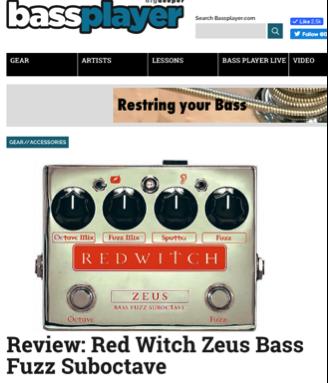 Bass Player Magazine - Zeus