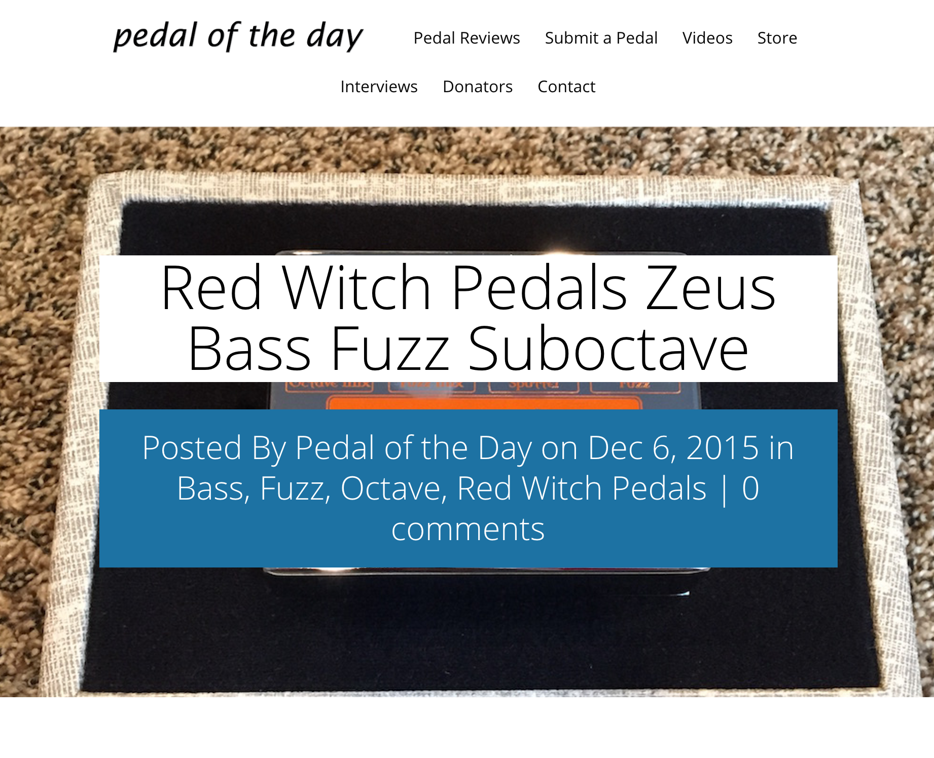 Pedal of the Day - Zeus