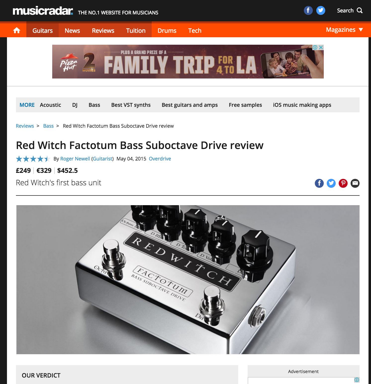 Music Radar - Factotum