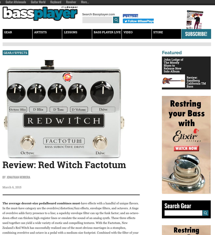 Bass Player - Factotum