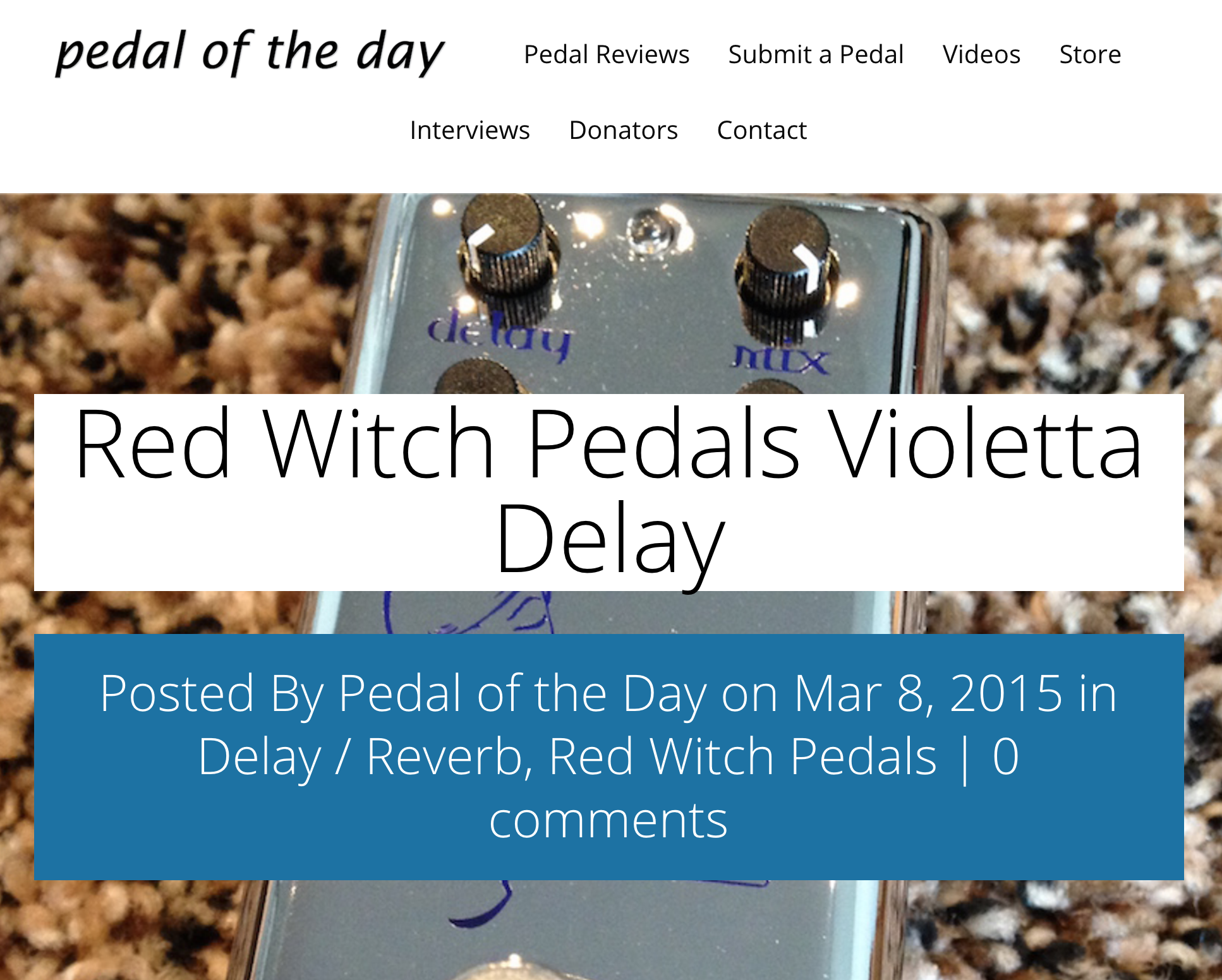 Pedal of the Day - Violetta